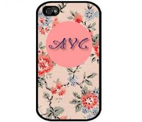 Monogrammed iPhone Floral Design - iphone 5 cases Cool iPhone Cases- Cool iPhone Cases- - - Case- iPhone 4, iPhone 4s
