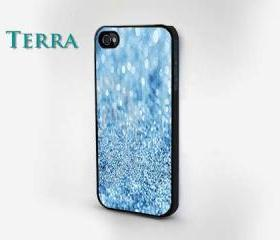 iphone 5 case - Blue Glitter & Sparkle Design iphone Cool iPhone Cases- Cool iPhone Cases-- iPhone 4, iPhone 4s