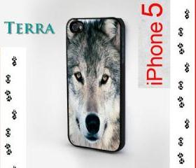 iphone 5 case - Wolf Design- - - Case iPhone cover, iPhone hard case- iPhone 4, iPhone 4s