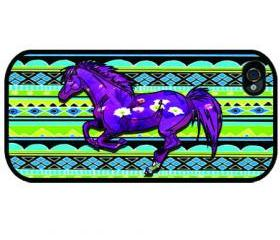 iPhone 4, - iPhone 4s - iphone 5 cases - COLORFUL HORSE DESIGN - Case iPhone cover, iPhone hard case- iPhone 4, iPhone 4s