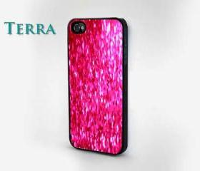 iphone 5 case - Pink Glitter & Sparkle Design iphone Cool iPhone Cases- Cool iPhone Cases- -- iPhone 4, iPhone 4s