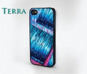iphone 5 case - - glitter - Sparkle & Pink and Blue Multi Layer Effect Glitter iPhone case- iPhone 4 iPhone 4s -- iPhone 4, iPhone 4s