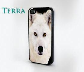iphone 5 case - White Wolf Design- iPhone cover, iPhone hard case- iPhone 4, iPhone 4s
