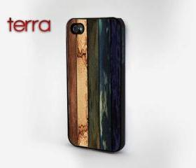 NEW iphone 5 case iphone 5 cover Colorful Weathered Wood PrintCool iPhone Cases- Cool iPhone Cases- iPhone 4 iPhone 4s - - Case
