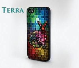 iPhone 4, iPhone 4s - Colorful Rabbit iPhone - iphone 5 cases Cool iPhone Cases- Cool iPhone Cases - Case iPhone cover, iPhone hard case