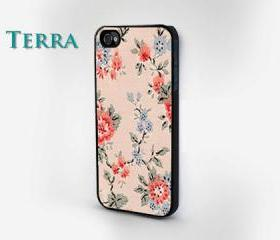 iphone 5, Floral iPhone Case, iphone 5 cases iPhone cover, iPhone hard case- iPhone 4, iPhone 4s- Rubber Case