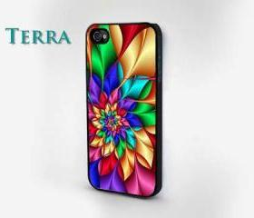 iphone 5 case - Bright Floral iPhone Case iPhone cover, iPhone hard case- iPhone 4, iPhone 4s- Rubber Case