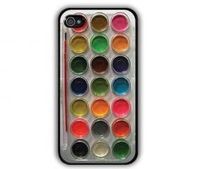 Cool Watercolor paint set Painting Kit - iphone 5 cases Cool iPhone Cases- Cool iPhone Cases-- iPhone 4, iPhone 4s- Rubber Case