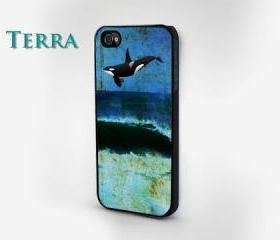 iPhone 4 Case Ocean & Orca iPhone Case - Cool iPhone Cases Phone 4, iPhone 5- Rubber Case